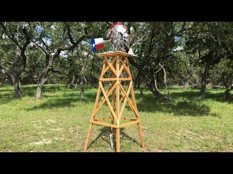 How to Build a Wooden Windmill Base and Remove Rust from Metal - Core77