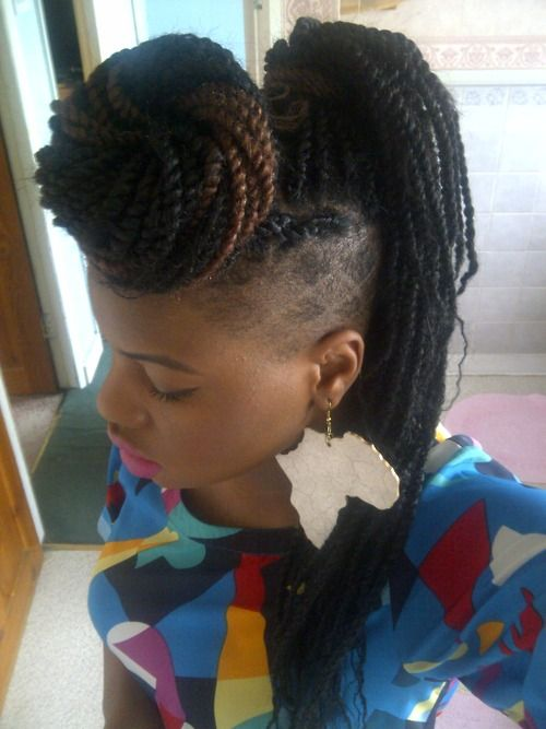 65 Best Shaved Sides Braids Twists Images On Pinterest
