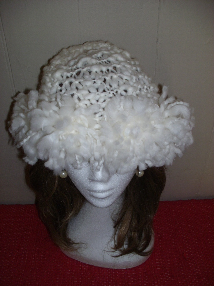 SNOW STORM  HAT with Pom Pom band. $39.90, via Etsy.