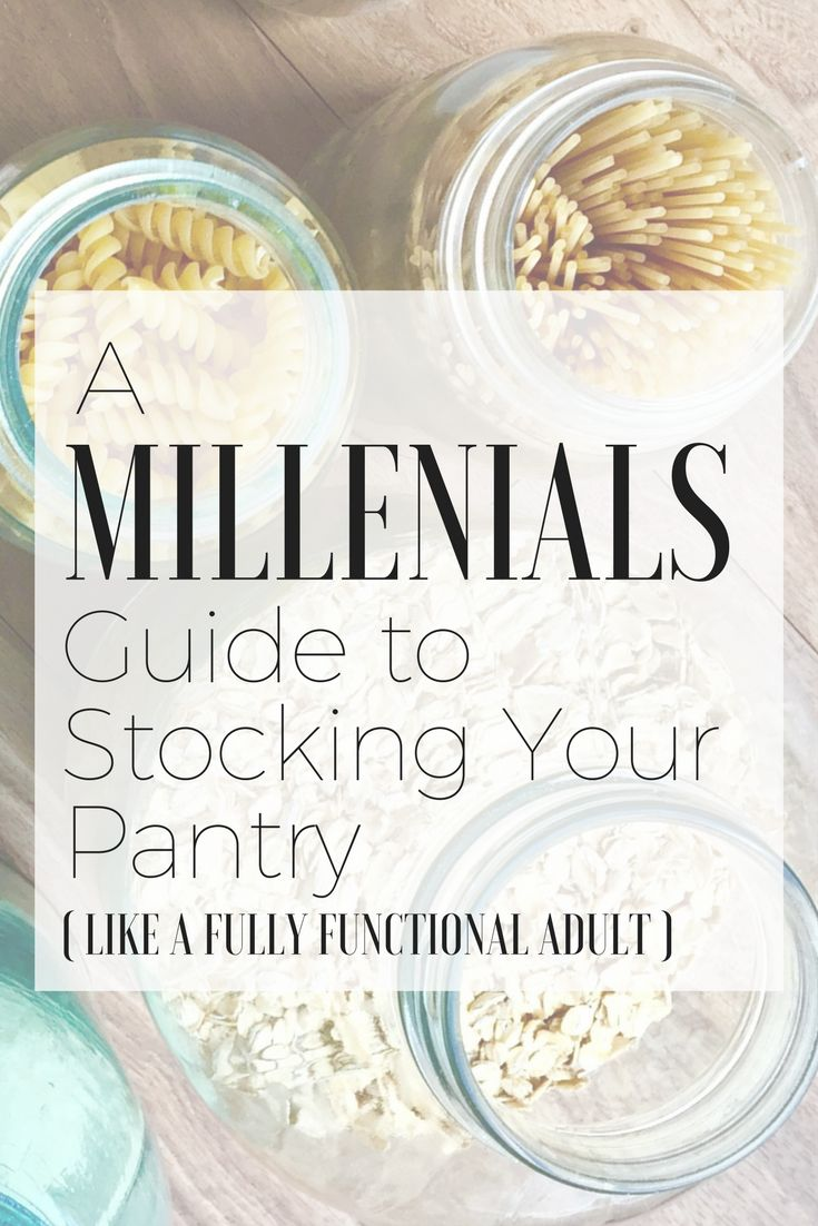 Adulting is hard. Learn how I stocked my pantry while saving money and figuring this whole life thing out #pantry