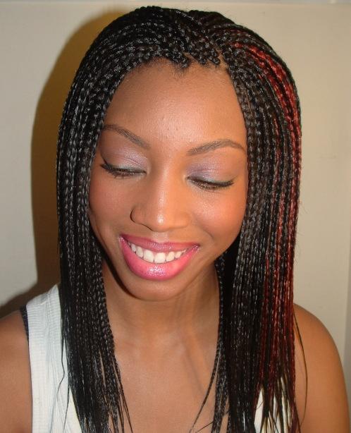 Glamorously braided hair maintenance