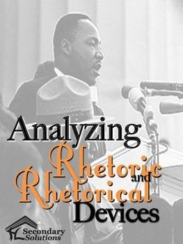 This FREE product is a complete handout on the elements of rhetoric, and includes definitions and examples of rhetoric (logos, pathos, and ethos), and rhetorical devices (a total of 19, including alliteration, anaphora, antithesis, apostrophe, conduplicatio, euphemism, hyperbole, irony, paralipsis, parallelism, rhetorical question, synecdoche, understatement, and more).