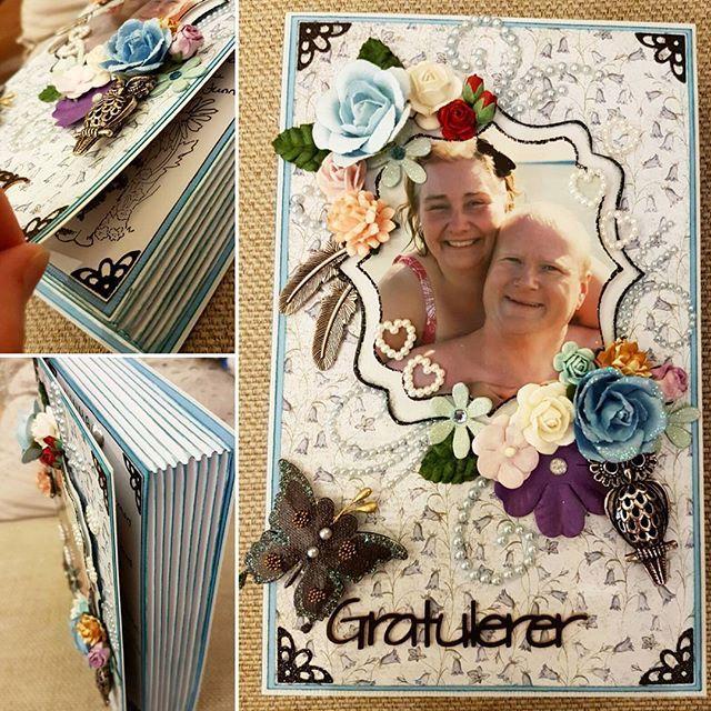#birthdaycard #book #scrapbooking #handmade #blue #mom #birthday #papercraft