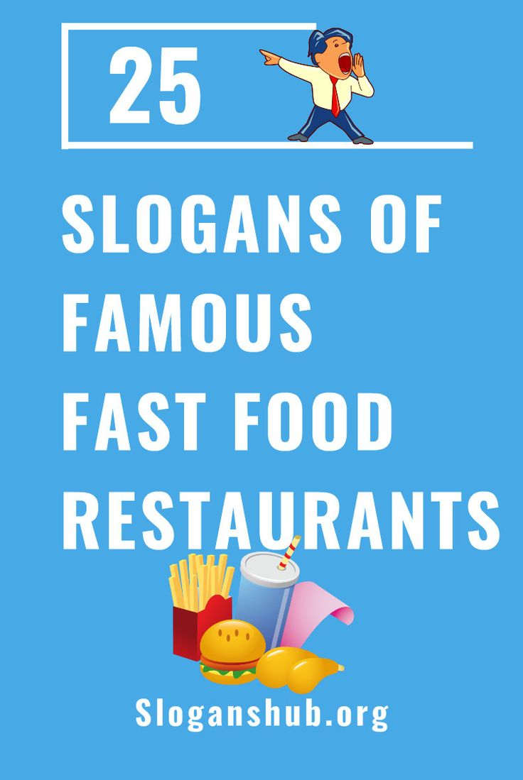 Slogans of famous Fast Food Restaurants in the world #slogans #taglines #fastfood #fastfoodrestaurant