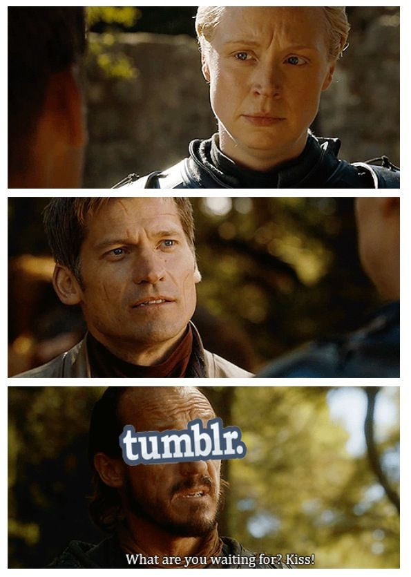 Brienne and Jaime (with some Bronn encouragement)... oh, how I wish ♥