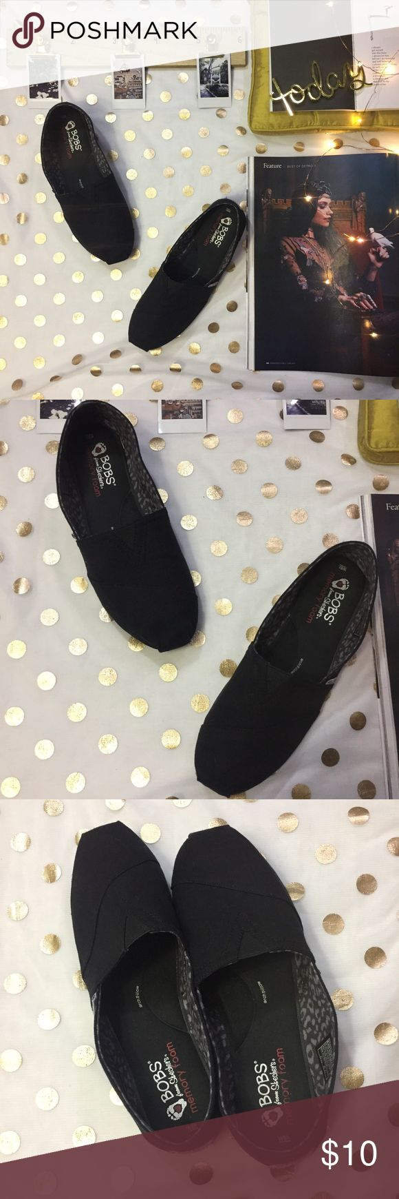 Bob's black memory cushion loafers size 8.5 In great condition  Bottom of one shoe little messed up but not does affect walking  Only wore once  Super comfy great for hairdressing / work long hours ✨✨ Skechers Shoes Flats & Loafers