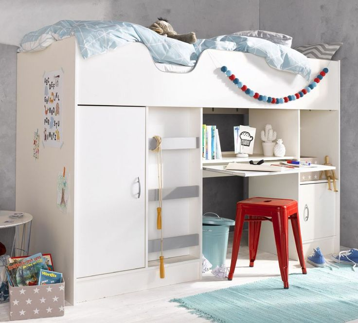 Childrens High Sleeper Cabin Bed With Wardrobe And Desk Ideal For Children From 6