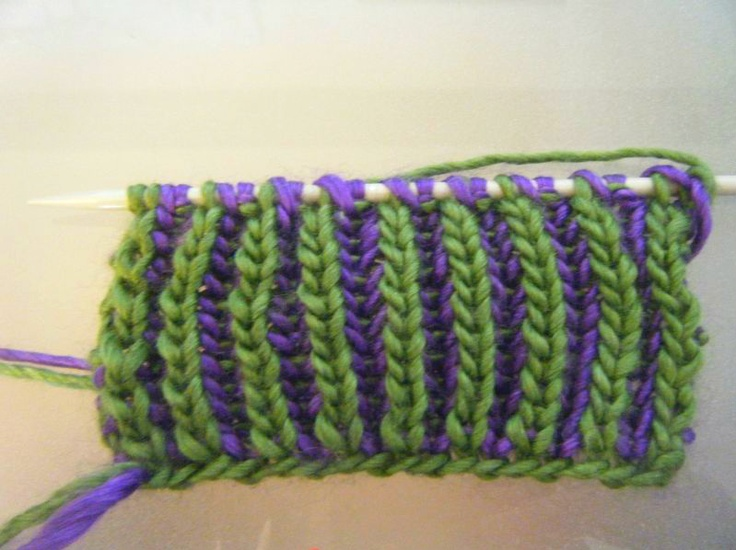 Brioche Knitting Tutorial : Colour brioche stitch knit pinterest colors