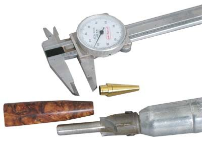 Measuring the components and tuning the blanks to fit exactly is straightforward and easy to do with a couple of commonly used pen turning tools