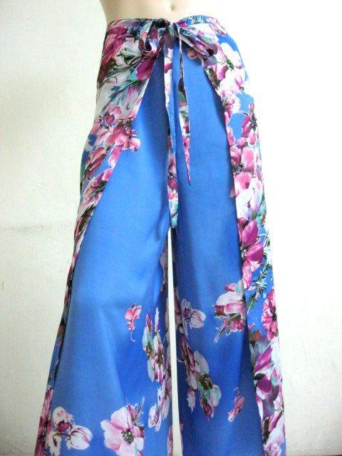 Silk Wrap Pants - HANDMADE TO ORDER