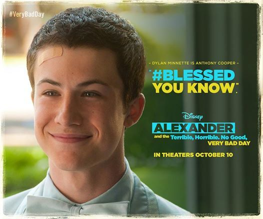 Check out Dylan Minnette in Alexander and the Terrible, Horrible, No Good, Very Bad Day! #verybadday