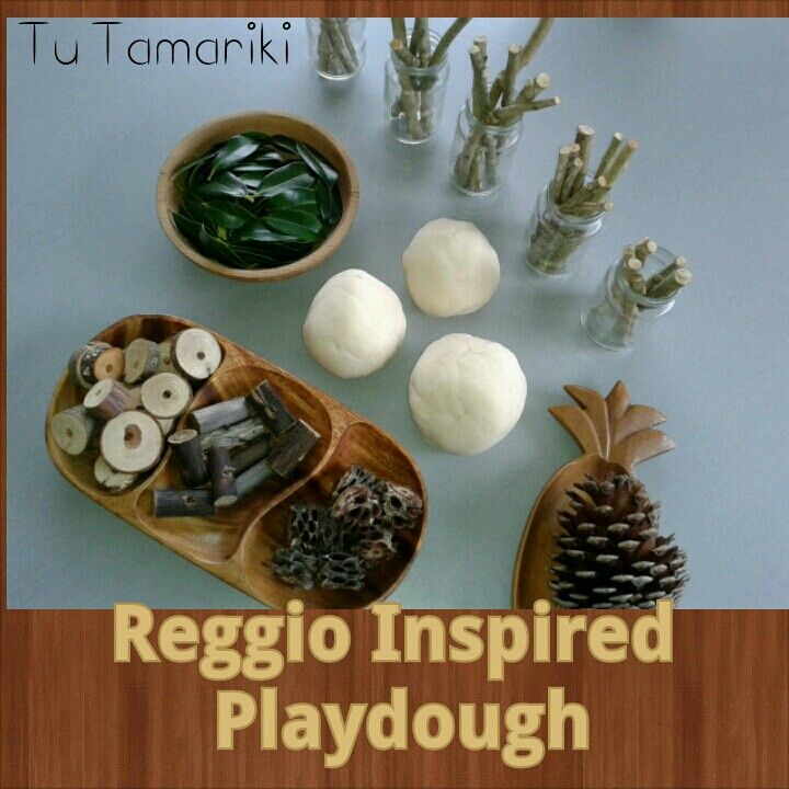Reggio Inspired Playdough. Play based Learning