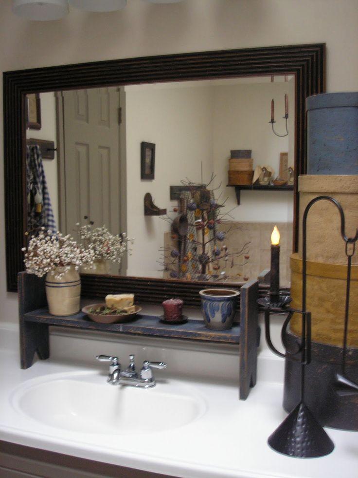 23 best my primitive bathroom images on pinterest | primitive