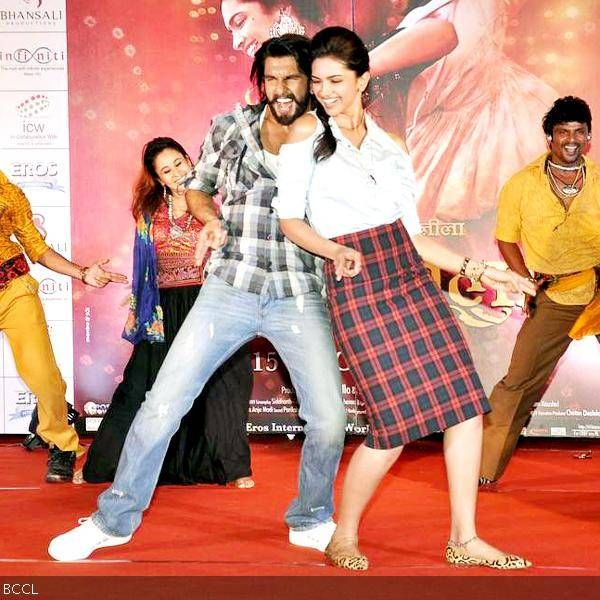 Ranveer Singh and Deepika Padukone caught in their element during the promotion of the movie Ram-Leela, held at Infiniti Mall, in Mumbai, on November 10, 2013.