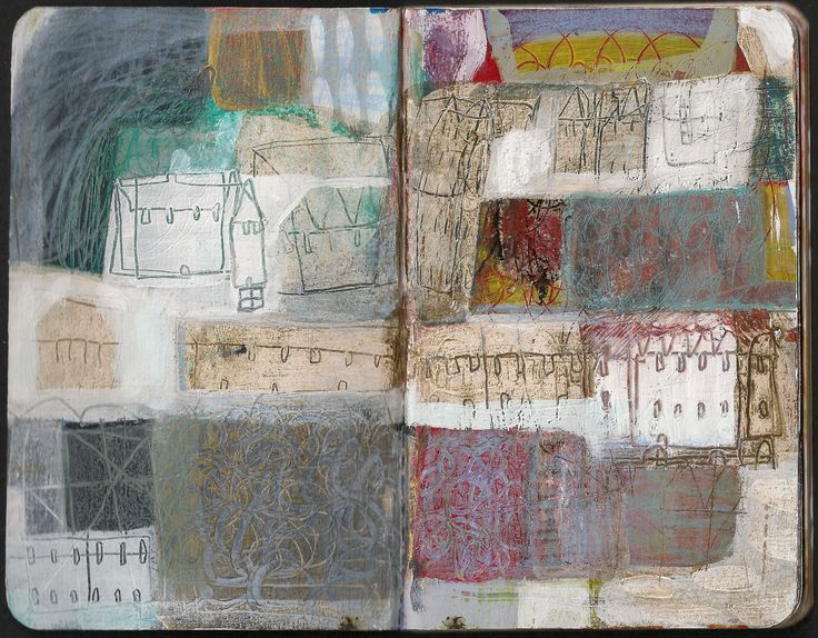 anne davies - sketchbooks.  I love how this looks suggestive of collage.