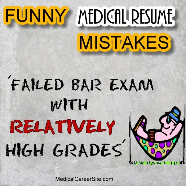 44 best Medical Fun, Pictures, Humor images on Pinterest Med - resume mistakes