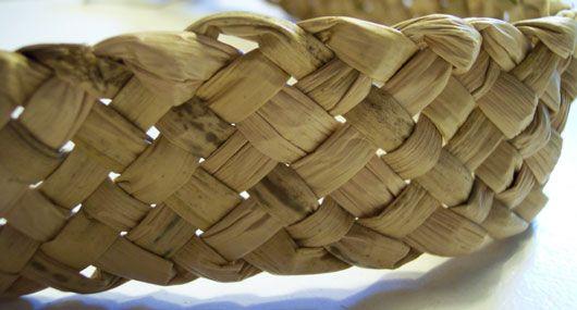 Gjordfletning (fladfletning, Bredflet) - bordskånere - pude betræk - overdel ved tåstykket på sko - indvendig sål i sivsko