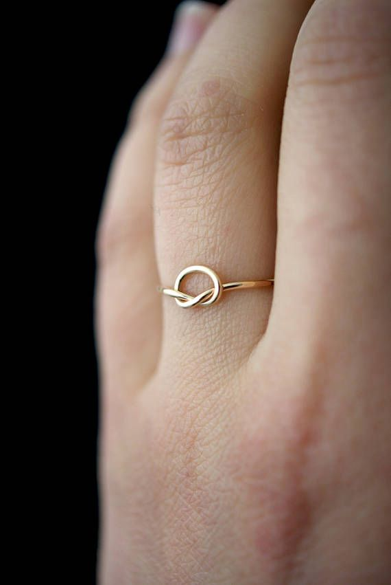 Thread of Gold Knot ring gold infinity ring 14k gold fill