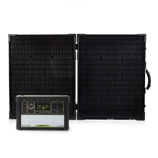 Goal Zero Yeti 400 Lithium Boulder 100 Briefcase Solar Panel Kit Best Solar Panels Solar Energy Panels Solar Panels