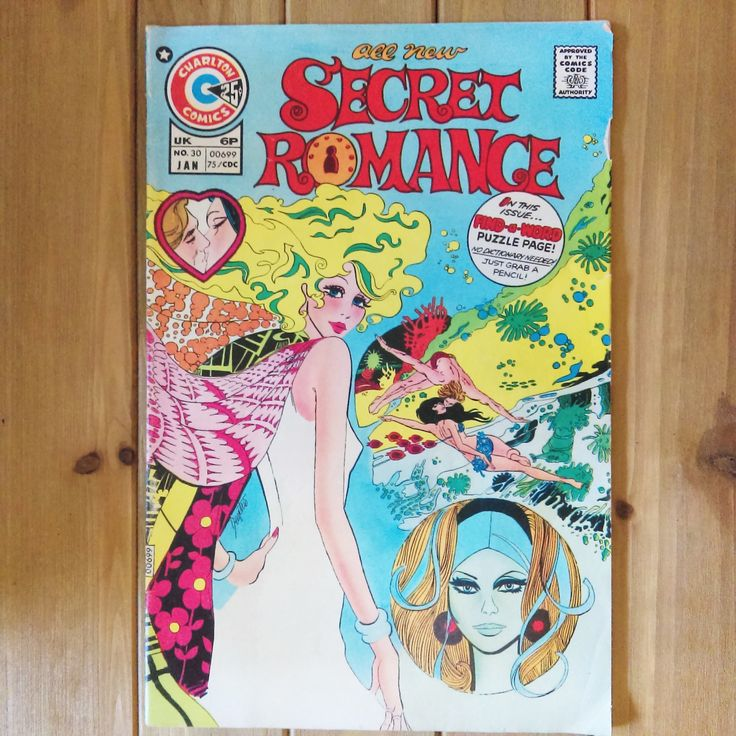 "1975 ""Secret Romance"" Charlton Comics UK Comic Book No. 30 Pulp Fiction United Kingdom Paperback Retro Vintage Comic Book by HouseofOHvintage on Etsy"