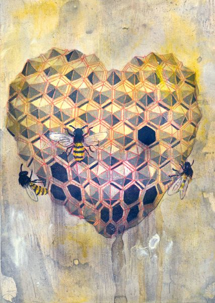 idea: create a honeycomb heart