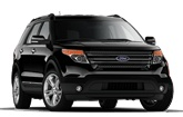 Ford Explorer - 7 seats, Eco-Boost (28mpg), leather, DVD players in headrests