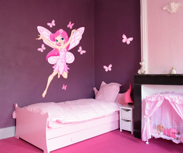 sticker f e des papillons en 2018 d coration chambre d 39 enfant pinterest le papillon. Black Bedroom Furniture Sets. Home Design Ideas