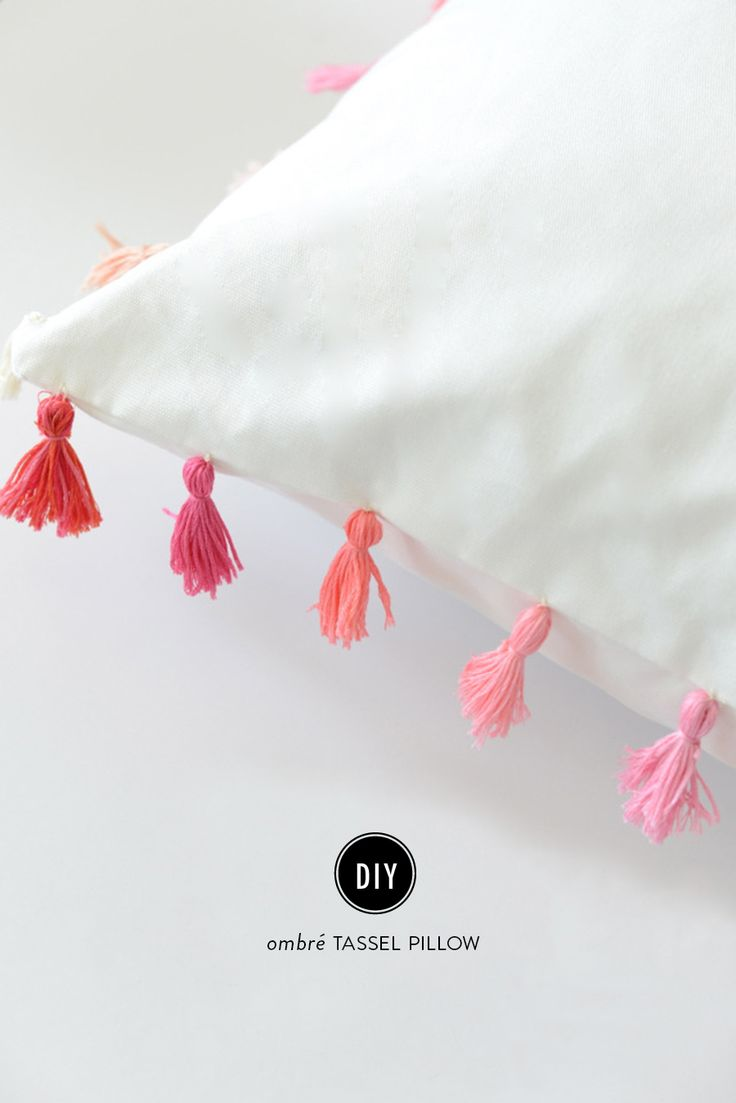 DIY Tassel Pillow  View entire slideshow: The Best DIYs of 2015 on http://www.stylemepretty.com/collection/3949/