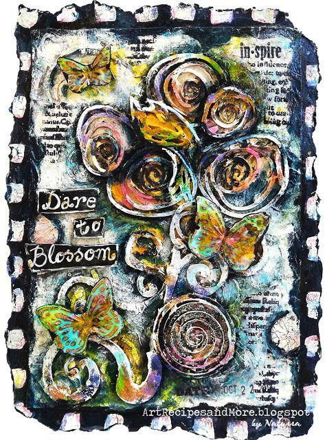 Art Recipes and More: Dare to Blossom - Creative Artiste Challenge #31