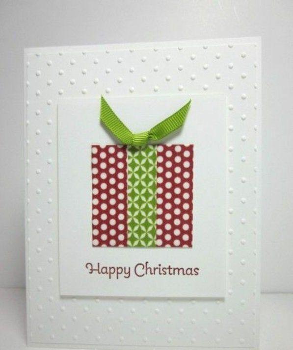 bastelideen weihnachten grün schleife geschenke lieb