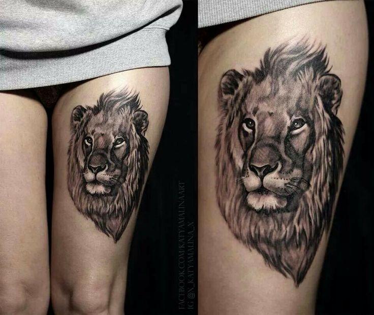 lion head tattoo ink pinterest ideen l we und. Black Bedroom Furniture Sets. Home Design Ideas