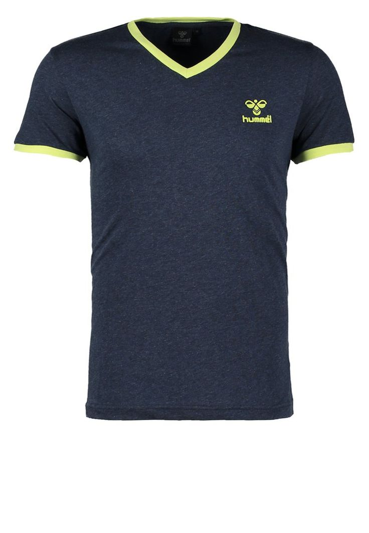 Hummel CLASSIC BEE - T-Shirt print - dress blue melange - Zalando.de  #HU342B01U-K11 #Hummel #null #blau #logo # hummel # straight # gerade #  v-neck ...