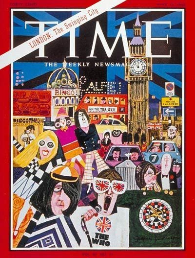 London: The Swinging City  ~~ Cover of Time magazine Apr.15,1966