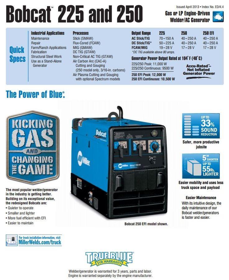 Miller Bobcat 250 Kohler Welder/Generator with GFCI for sale (907500) - Buy at WeldingSuppliesfromIOC.com, based in Indianapolis, IN