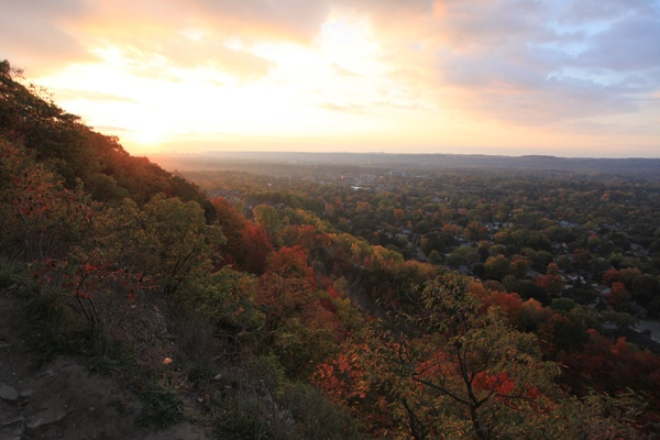 Sunrise in October.  Dundas Peak.