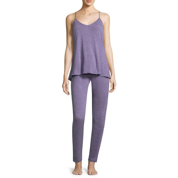 Josie Women's PJ SET - Purple, Size L ($47) ❤ liked on Polyvore featuring purple