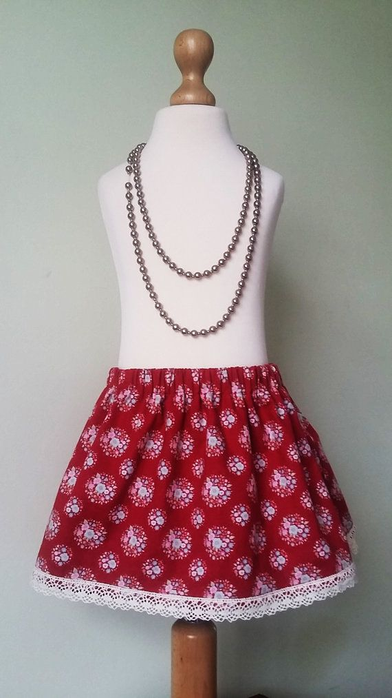Check out this item in my Etsy shop https://www.etsy.com/uk/listing/257170854/girls-flower-skirt-red-winter-skirt