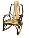 Hickory Rustic Rocking Chair with Hickory Slats