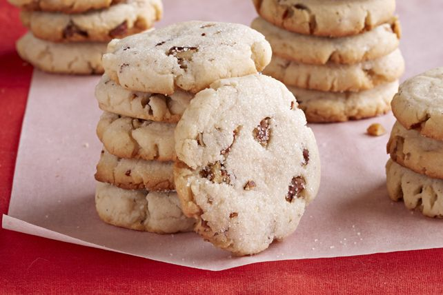 Pecan-Cream Cheese Shortbread Cookies