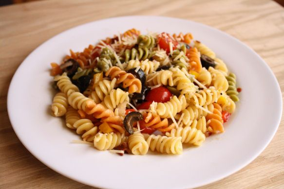 Easy Cold Pasta Salad Olivia Recipes Food Pinterest