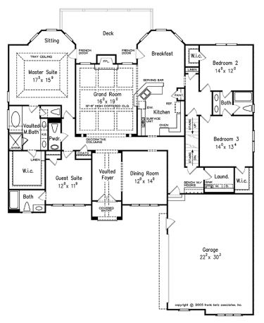Home plans homepw10813 2 700 square feet 4 bedroom 3 for 2700 sq ft house plans