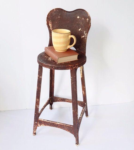 Tabouret en métal rustique cuisine chaise par BeeHavenHome sur Etsy