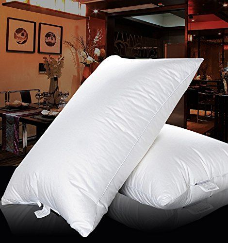 Shi Shang King Size Pure Canadian Goose Down Pillow 20X36inches, 1800TC Egyptian Cotton Cover
