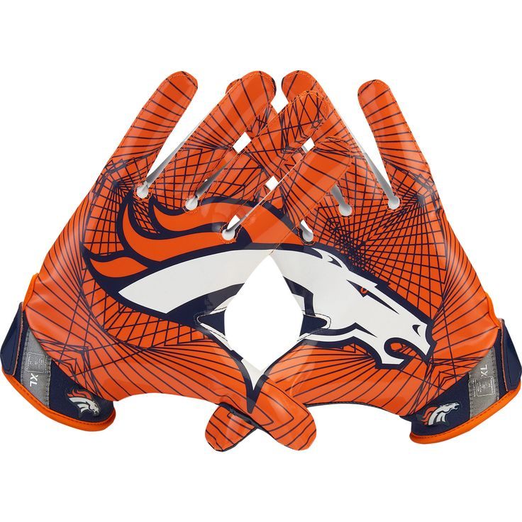Nike Denver Broncos Vapor Jet Light Speed Gloves My son would love these for football!