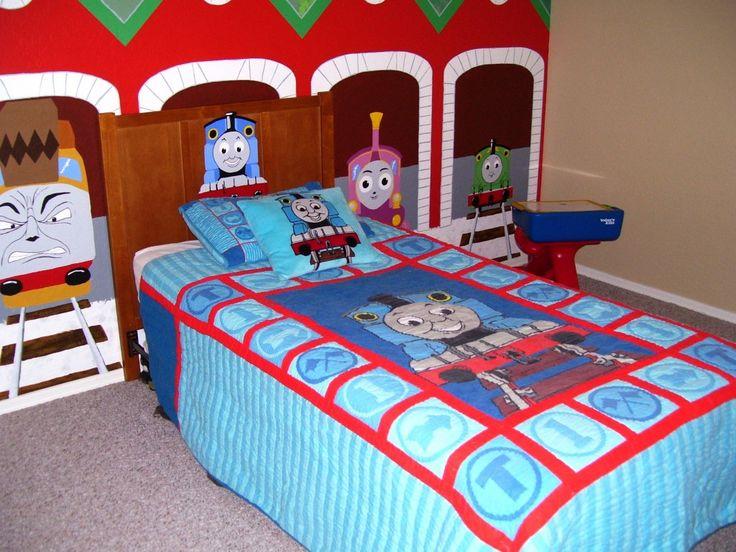 Thomas The Train Bedroom With Mural Decorbedroom Ideasthomas