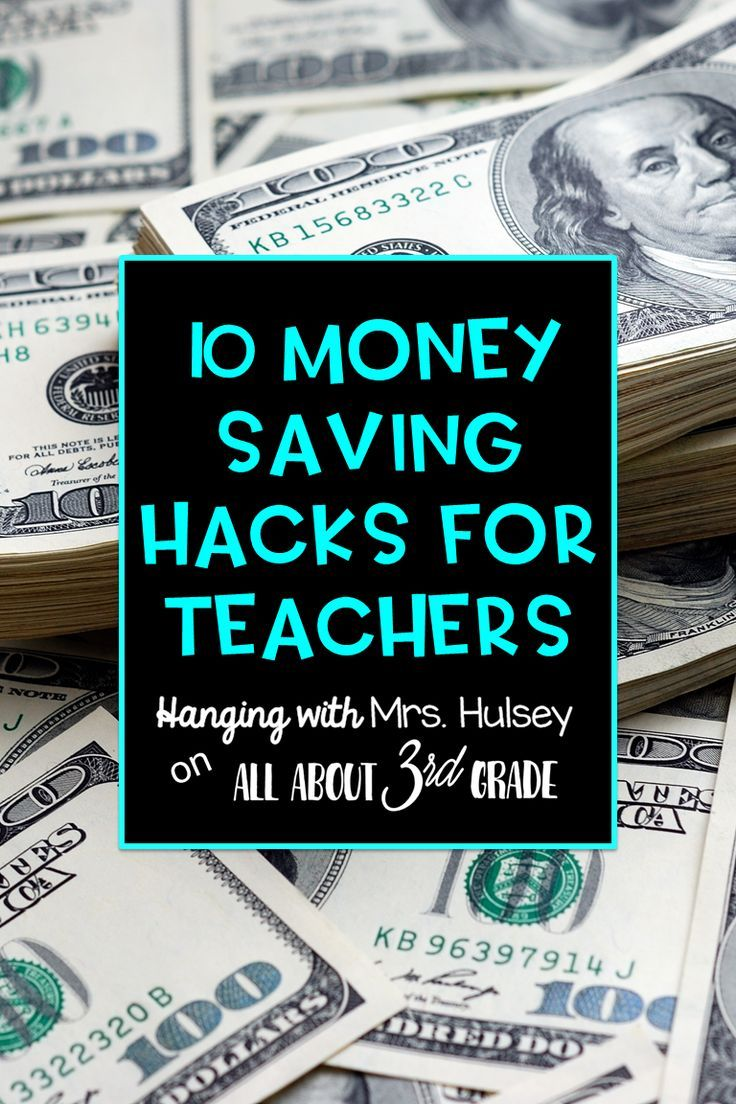 10 DIYs and money saving hacks for teachers to save money in their classrooms- Great for educators who have a tight budget!