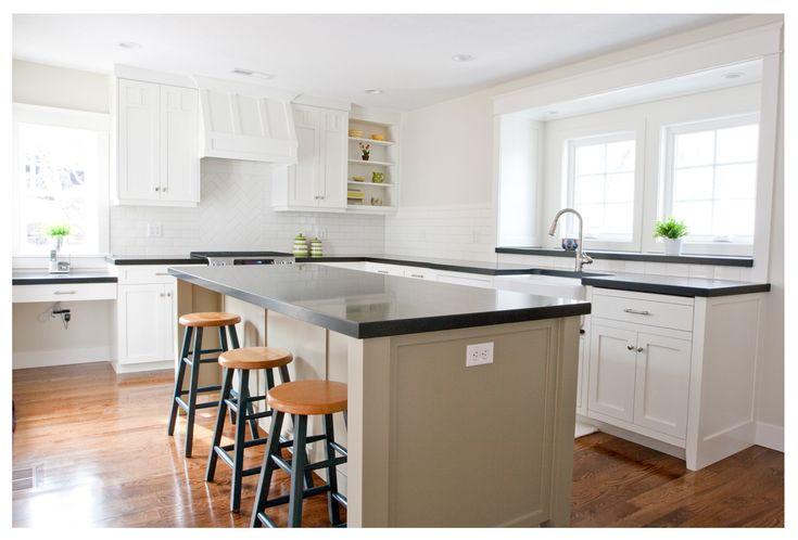 Black Honed Granite Kitchen