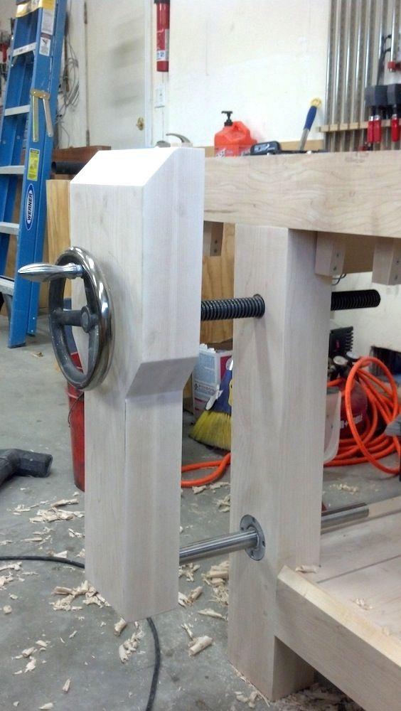 Roubo Workbench Leg Vise Alternative – Linear Bearings   The Wood Whisperer