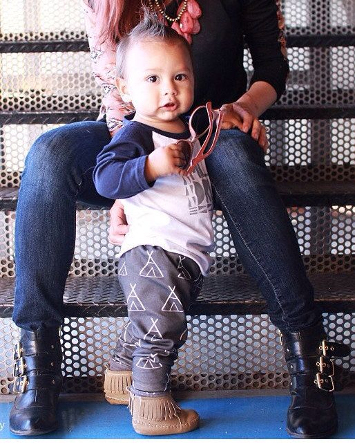 Teepee Tipi Organic Cotton Knit Pants Leggings for Babies, Toddlers and Kids - Boy or Girl Pick the Waistband Cuffs
