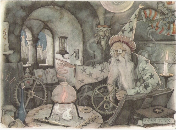 The Magic Clock, illustration by Anton Pieck.  Pix- tag/card ?